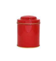 red coloured canister